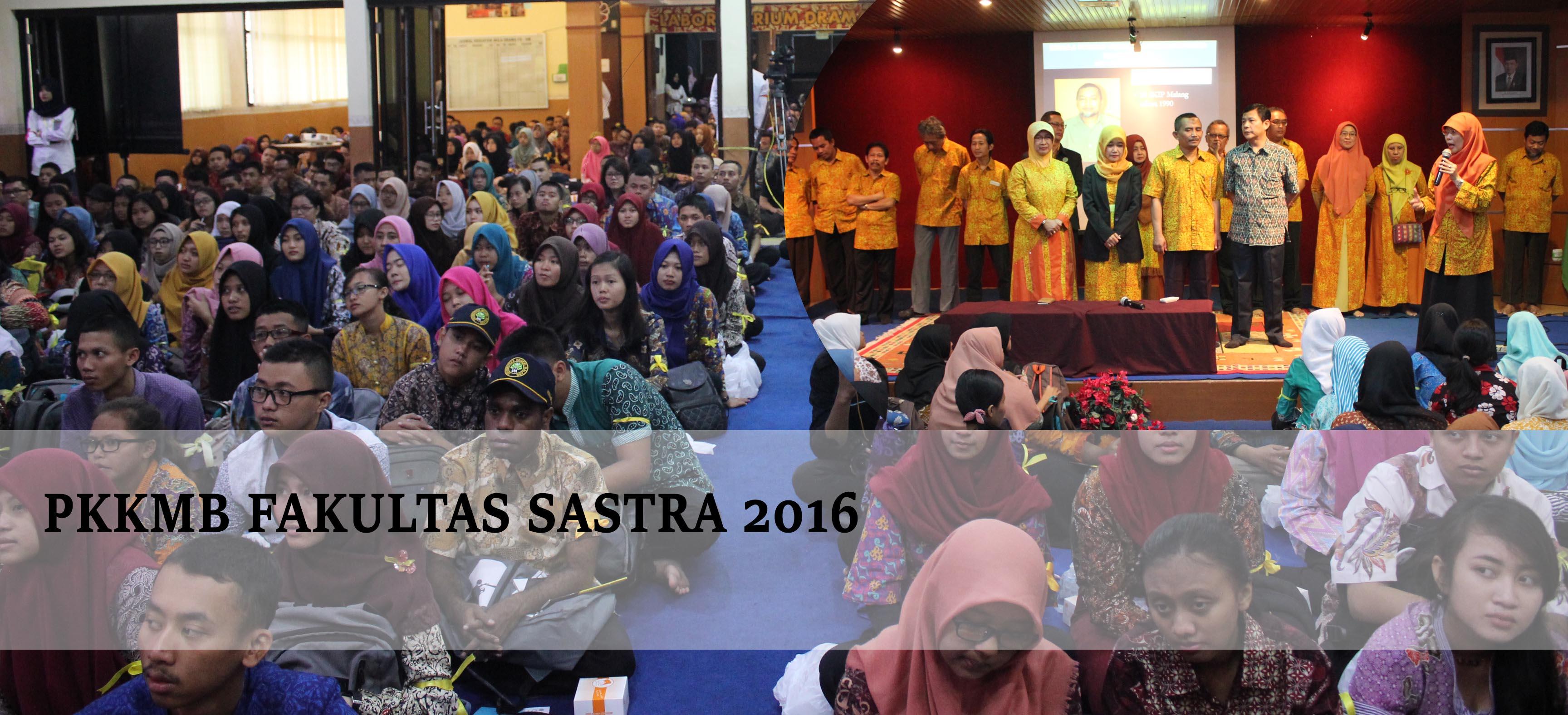 PKKMB FAKULTAS SASTRA 2016 di Aula Fakultas Sastra