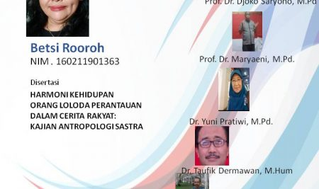 Ujian Disertasi S3 Pendidikan Bahasa Indonesia a.n. Betsi Rooroh
