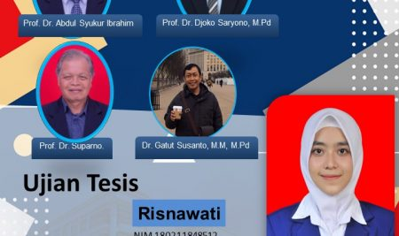 Ujian Tesis S2 Pendidikan Bahasa Indonesia a.n. Risnawati